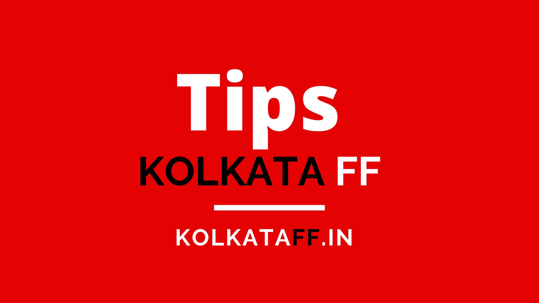 Kolkata FF Tips